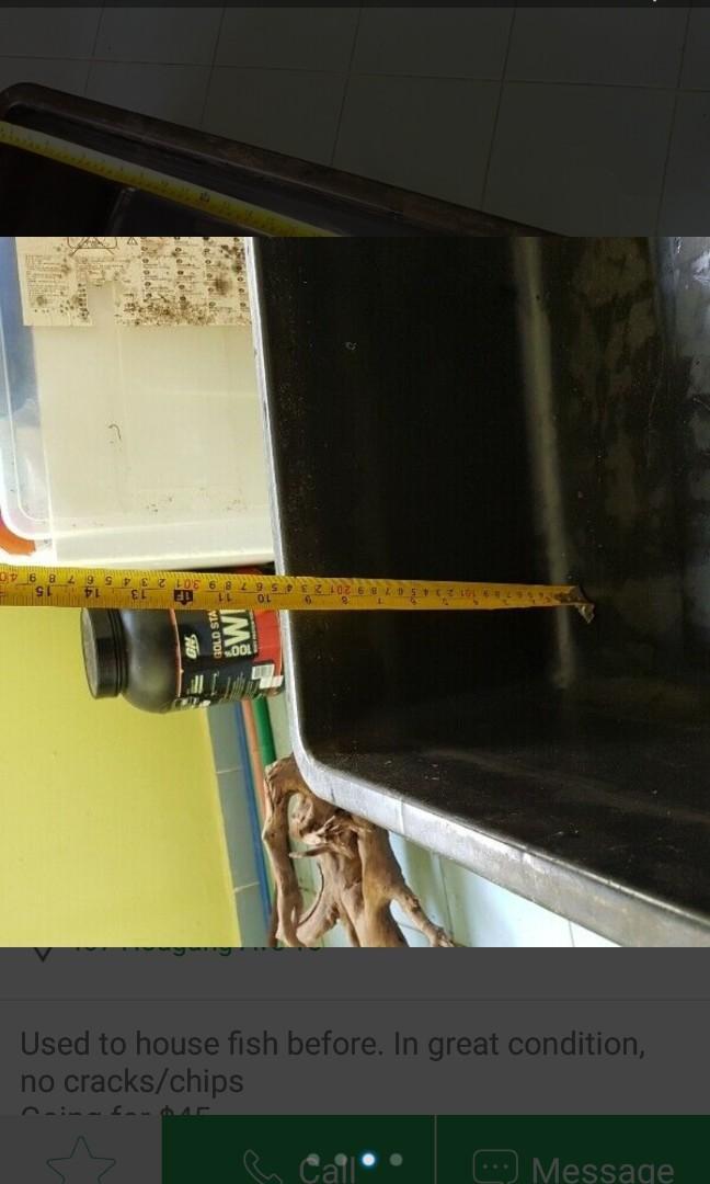 80cm x 50cm x 25cm tub for fish/pond/pets