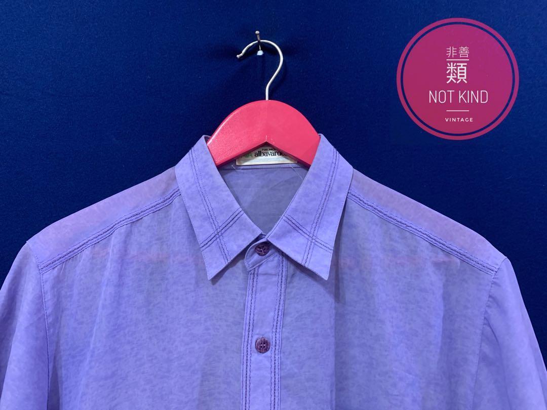 紫外光車邊薄短袖襯衫