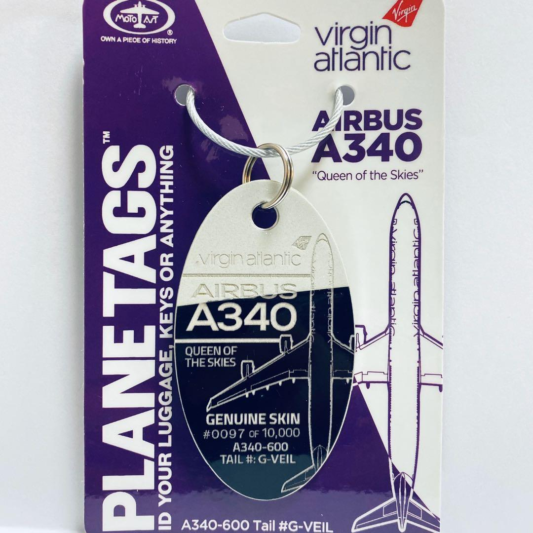 ✈️香港97 97 97 🇬🇧Virgin Atlantic A340   / 🇭🇰 Cathay Pacific B747 / 🇭🇰 Air China B777 退役飛機外殼鑰匙扣/行李牌