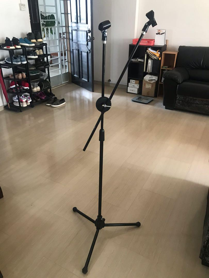 Adjustable Dual Microphone Stand