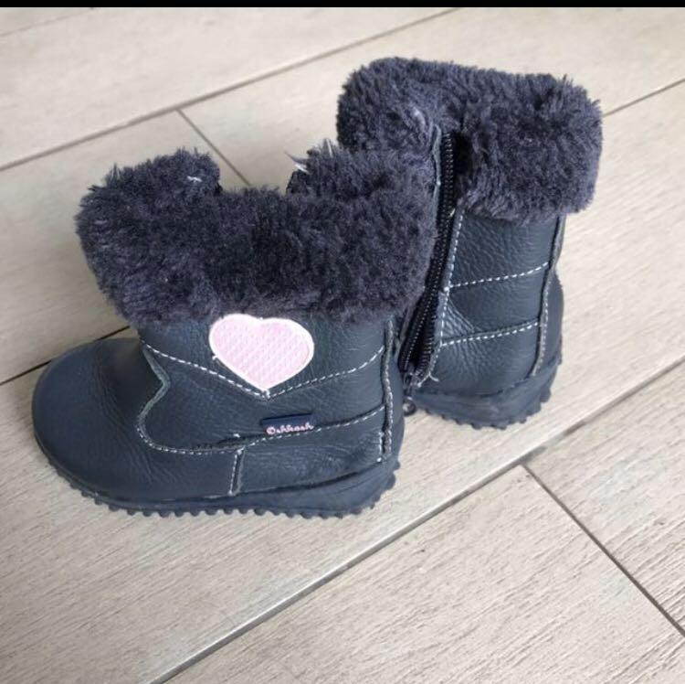 Baby Toddler Girl Leather Winter Boots Oshkosh