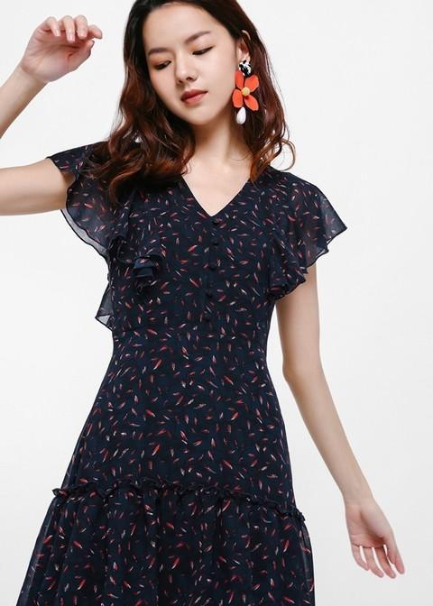 BNWT Love Bonito Ryana Printed Layered Maxi Dress