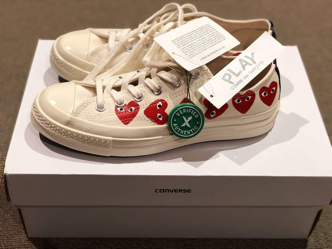 CDG Play x Converse Chuck Taylor Multi Heart 1970s Ox - UK 7