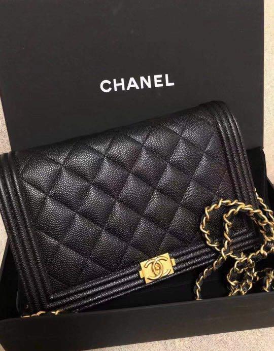 Chanel WOC le boy wallet on chain