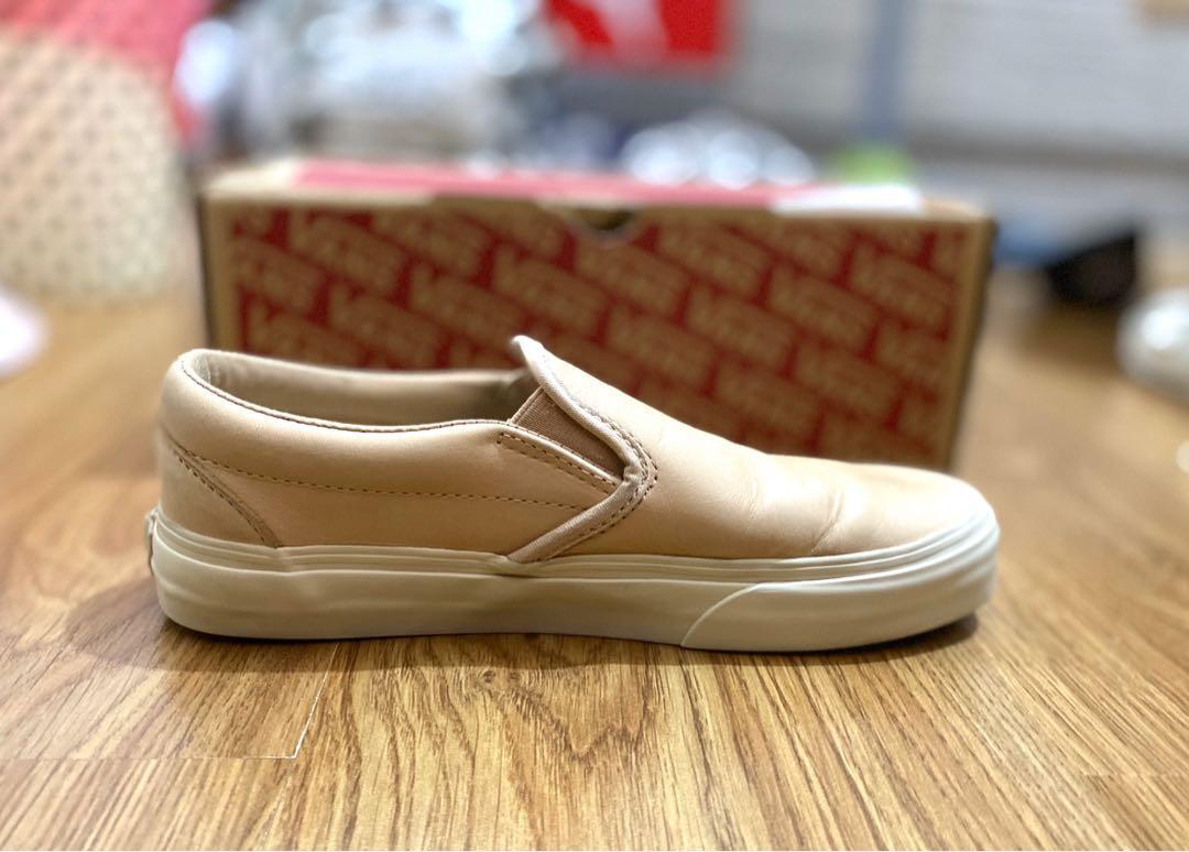 Classic Vans Slip-On (Veggie Tan Leather), Women's Fashion ...