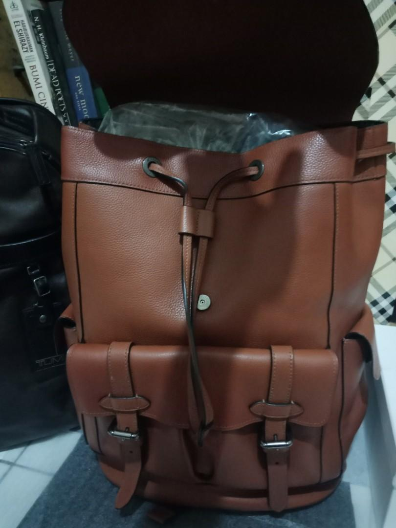 Coach bagpack authentic full leather look new