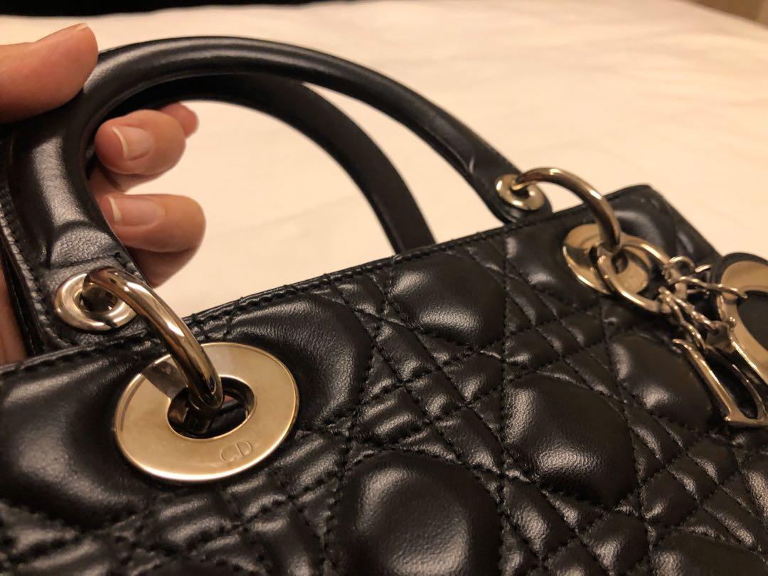 Dior Medium Lady Dior in Black SHW