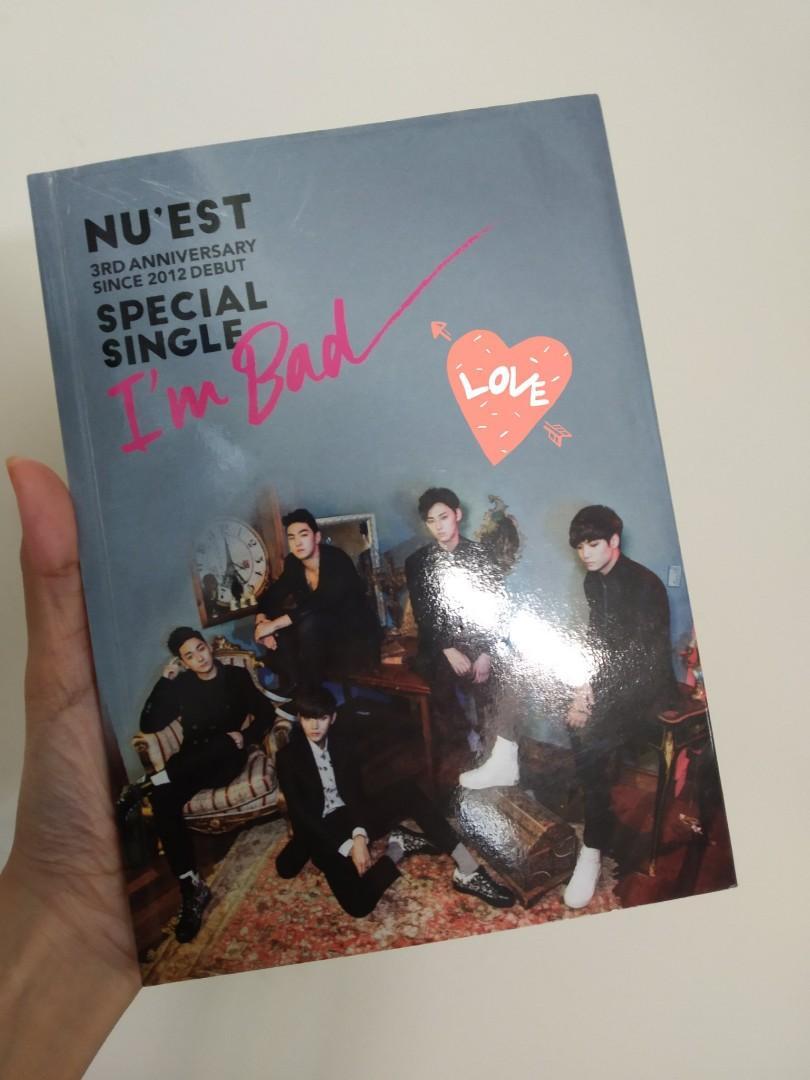 [For Bid] NU'EST I'm Bad Album with member signed pc