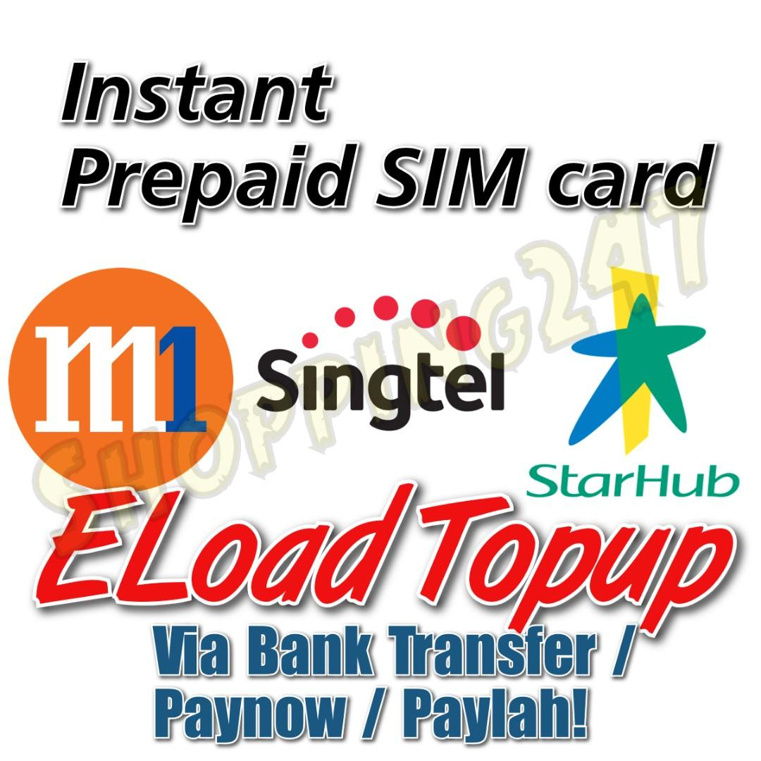 Instant Prepaid Card Topup with Paynow/Paylah/Bank Transfer