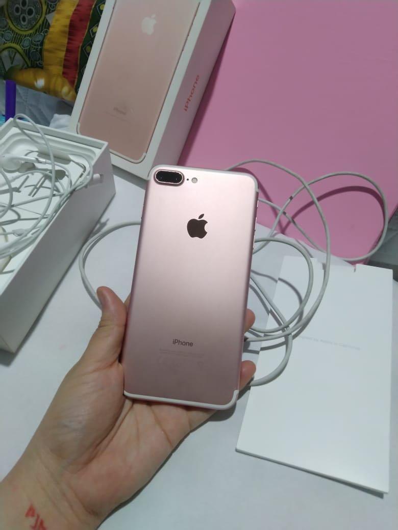 IPHONE 7 PLUS 128 GB ROSE GOLD DIJUAL CEPAT 💜