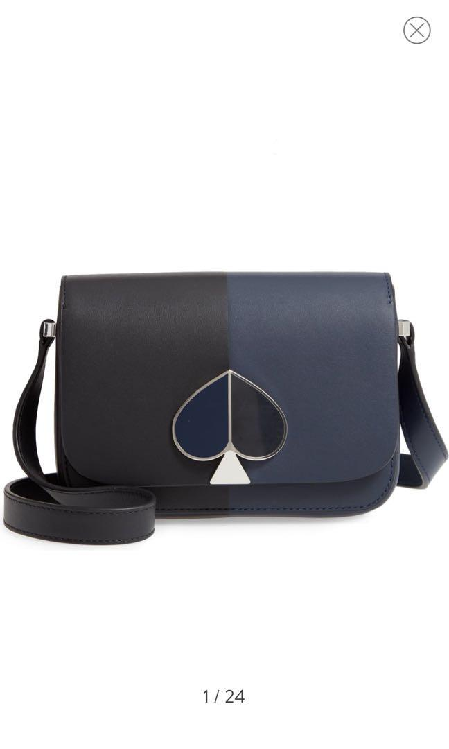 Kate spade ♠️ Nicola bicolor small leather bag flap