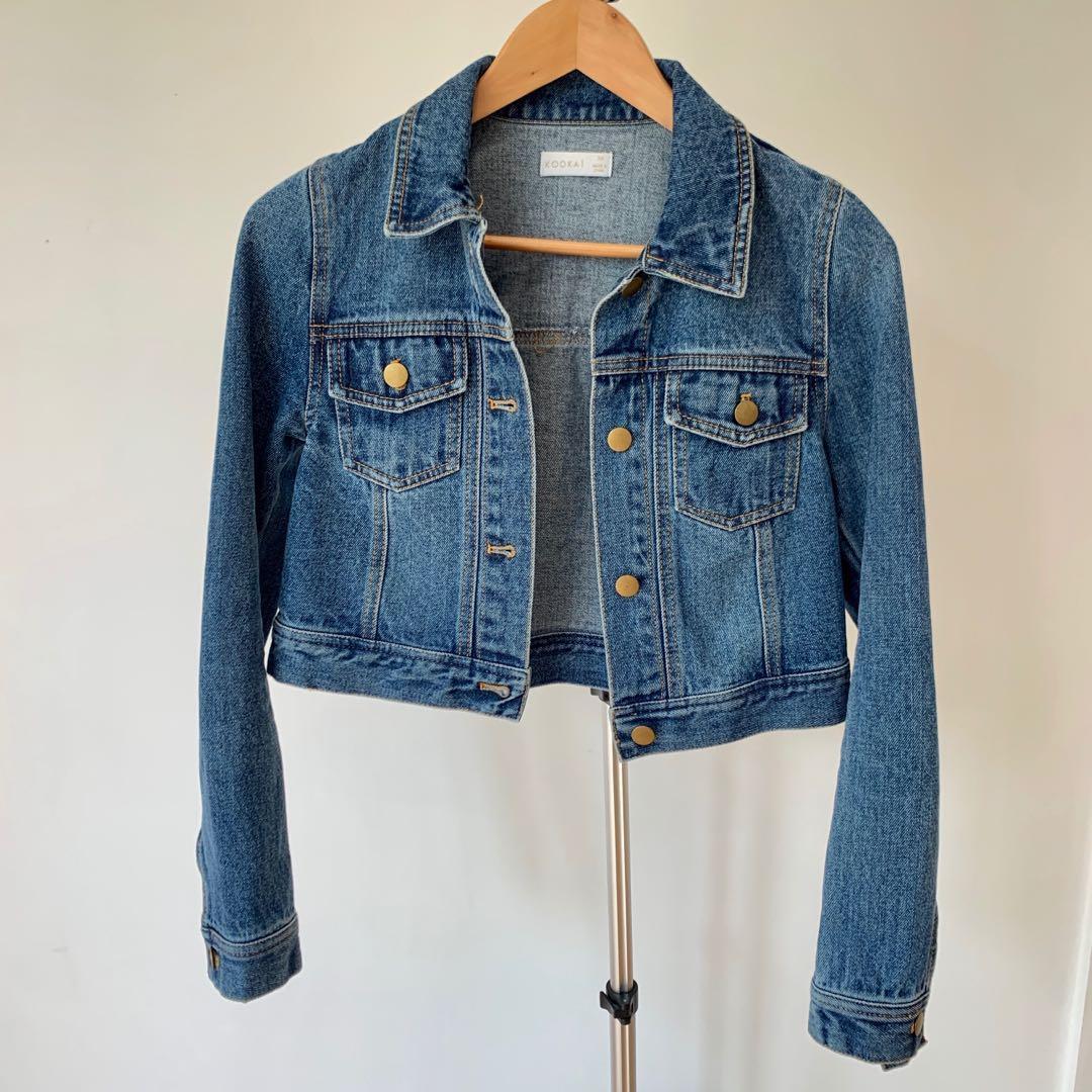 Kookai Downtown Denim Jacket in Indigo Size 34 / XS