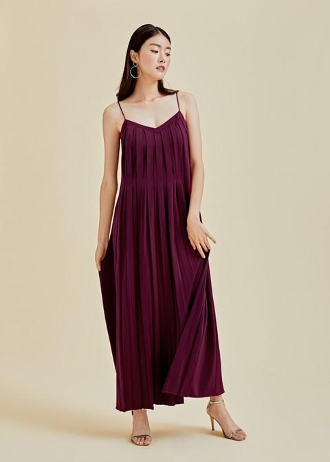 BNWT Love Bonito Studio Talia Pleated Maxi Camisole Dress