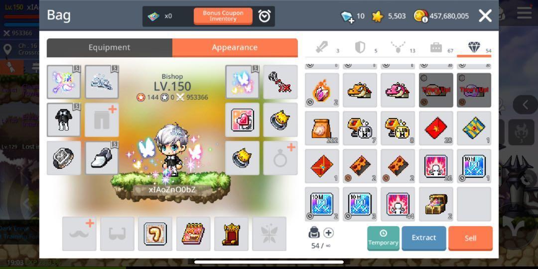 Maplestory M Asia 2 Zenith level 150 bishop