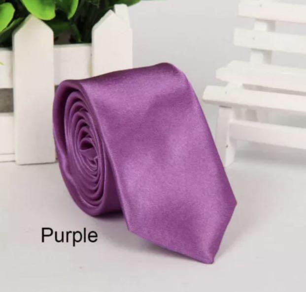 Mens SKINNY TIE Plain Wedding Slim Necktie Formal Casual Narrow Party men's ties
