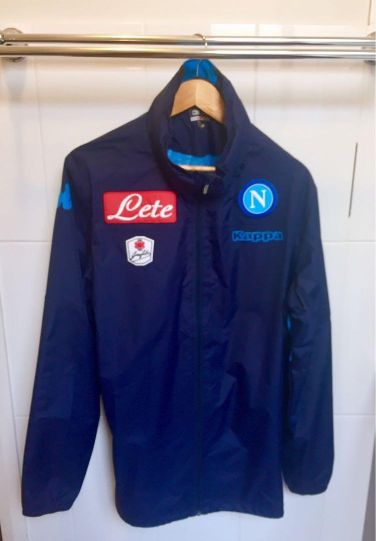 Napoli SSC Kappa Football Rain Jacket | 2017/18 Size XL
