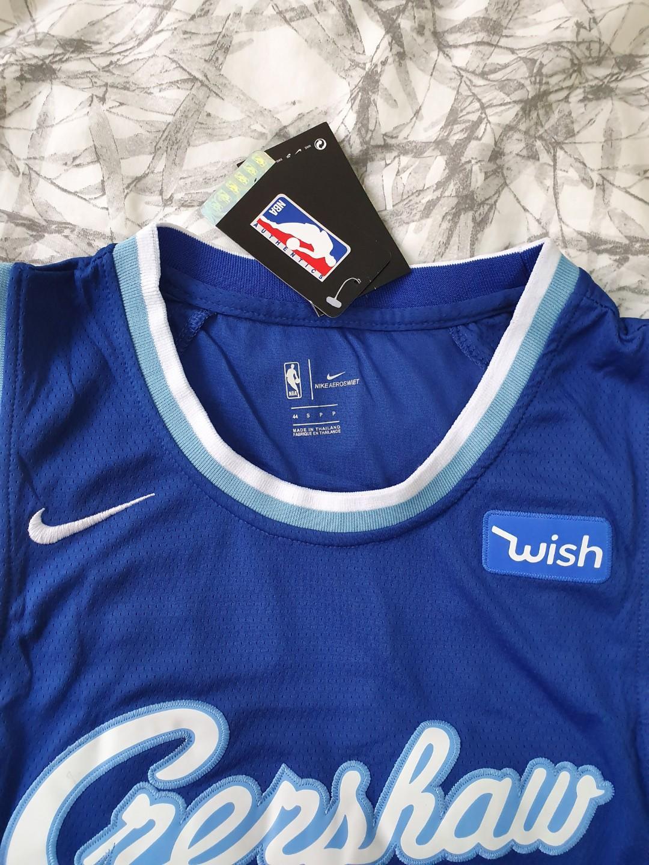 Nike LA Lakers Crenshaw collaboration Jersey Nipsey Hussle