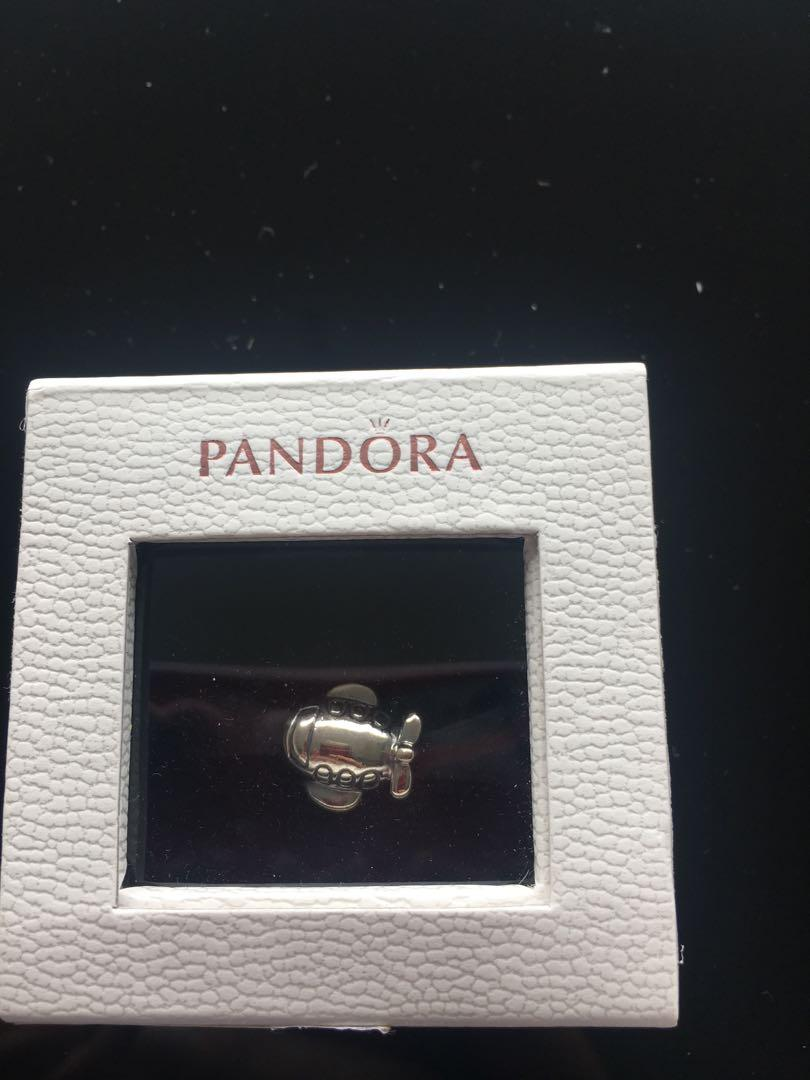 Pandora Silver Aeroplane charm