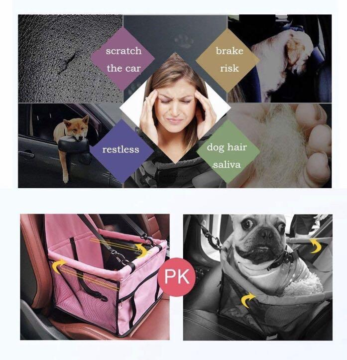 Pet Booster Seats Car Seat Cover Pet Carrier Car Waterproof Non-Slip Bag for Cat Dog Rabbit