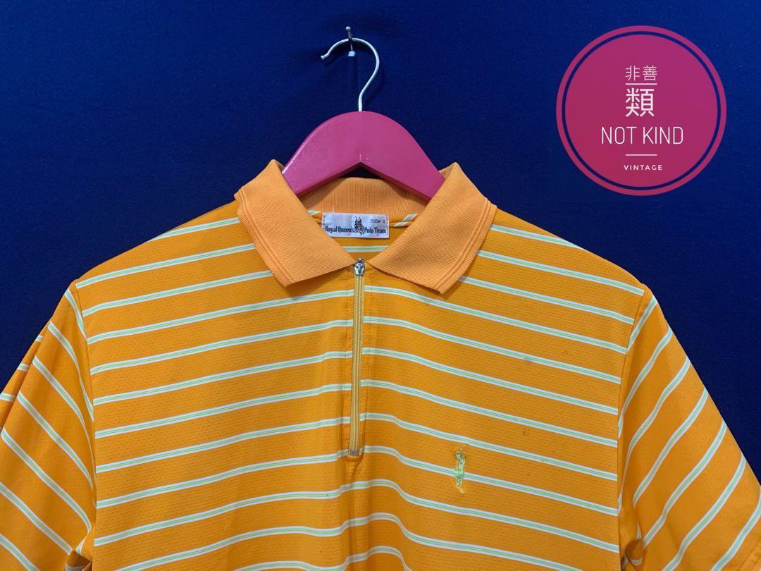 黃標POLO橘白條紋POLO衫
