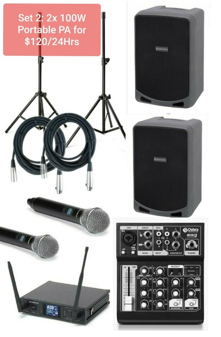 Powerful Portable PA System Package for $120 for 24hours