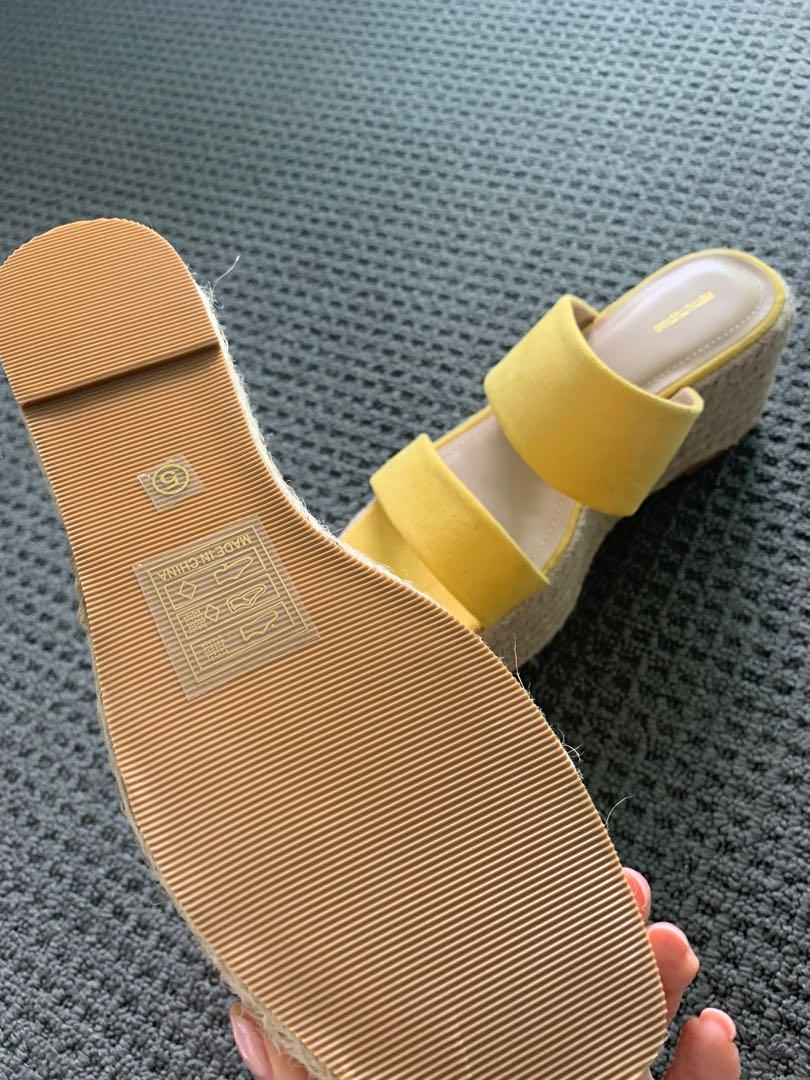 Pretty little thing brand new wedge espadrille sandals size 38 Aus 7 UK 5