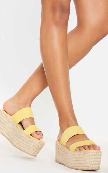 Pretty little thing brand new wedge espadrille sandals size 38 Aus 7 UK 5