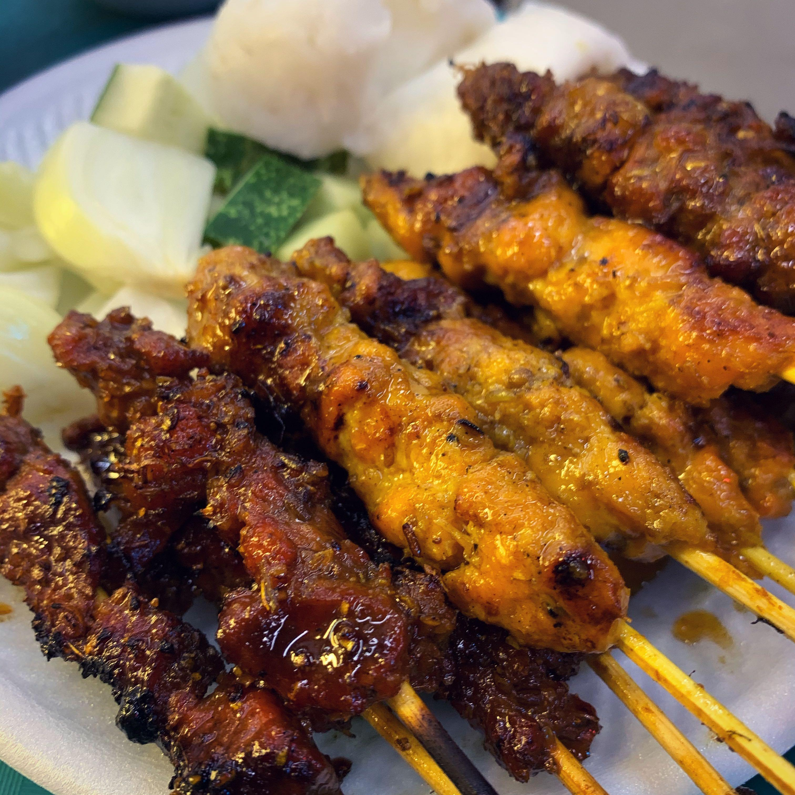 Satay Griller and service crew