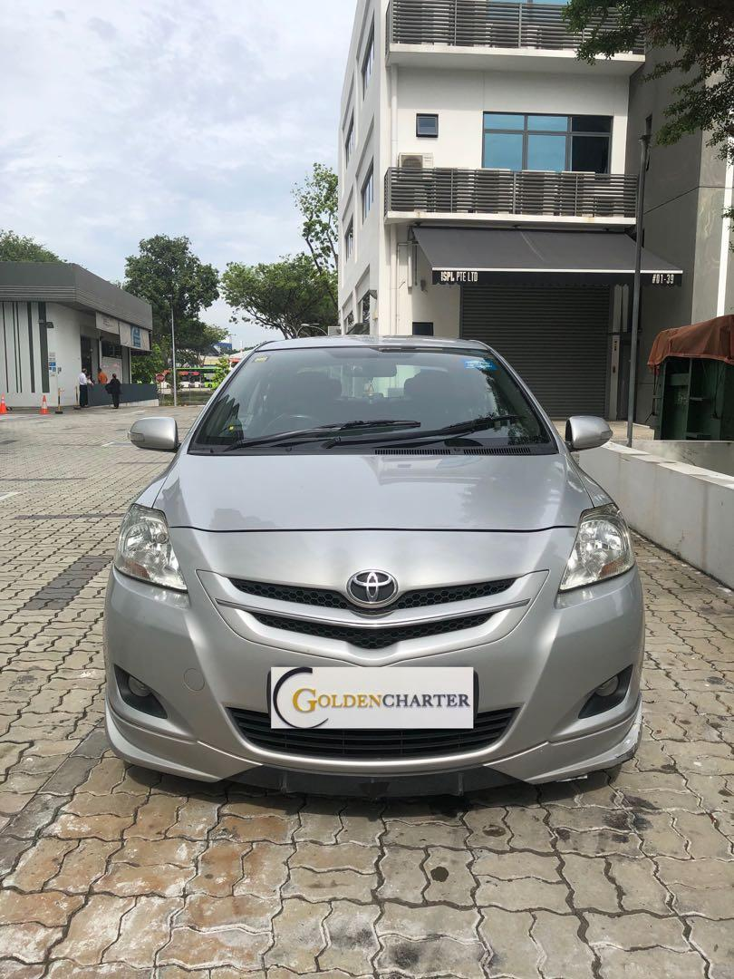 Toyota Vios 1.5A E For Rent, weekly gojek rental rebate available. Personal can rent