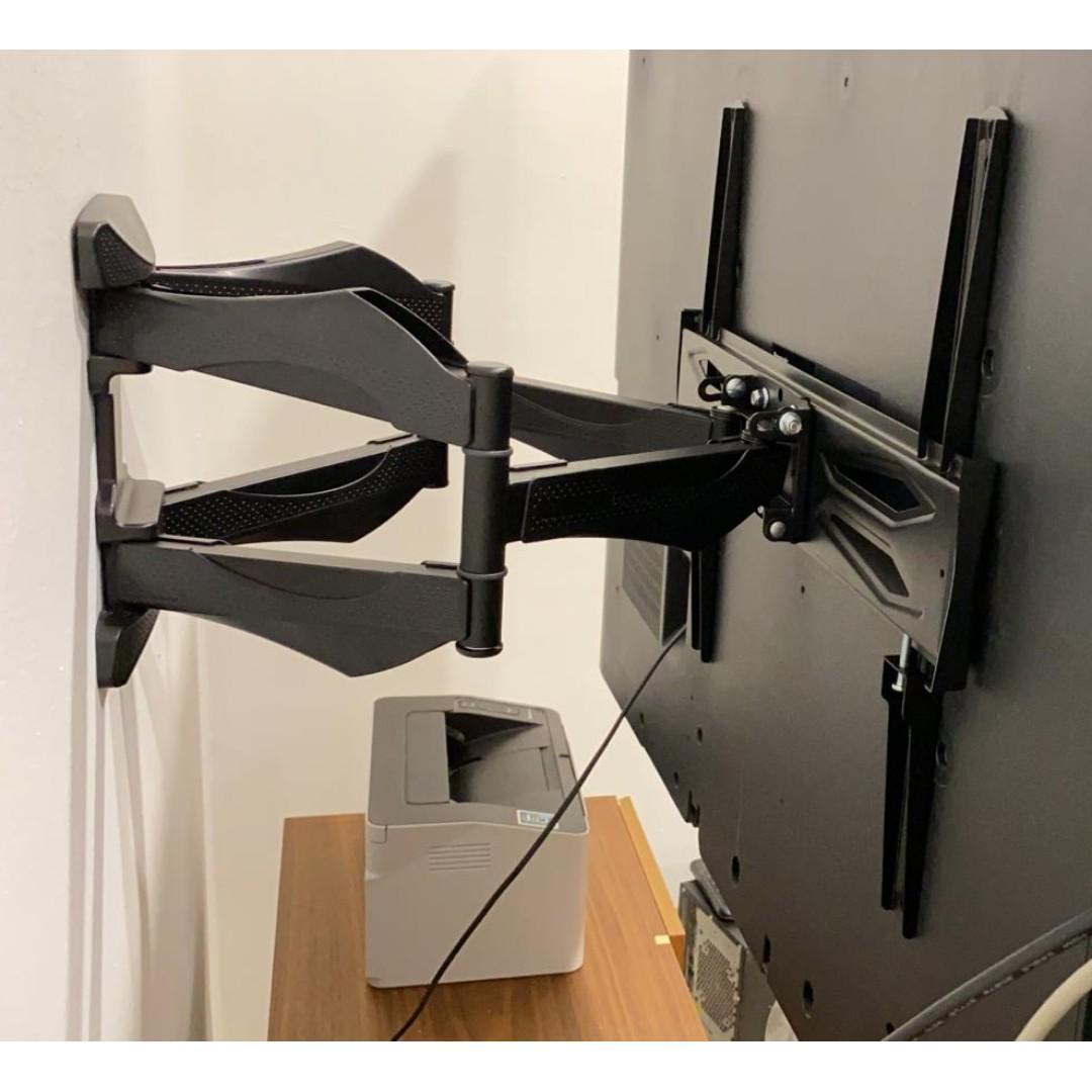 TV bracket double arm wall mounting whatsapp 8498 4312