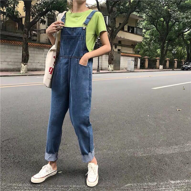 Ulzzang Korean Jeans Denim Jumpsuit Overalls