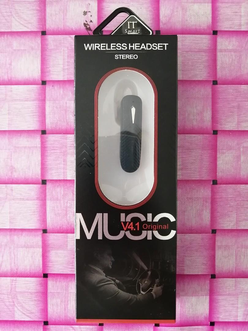 Wireless Headset Stereo MUSIC Original Bluetooth Earpiece