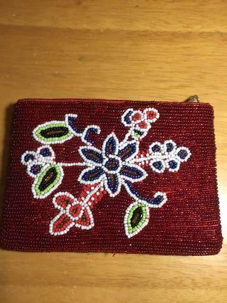 Dompet kecil beads etnic 14cm x 10cm