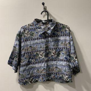 古著短版夏威夷襯衫