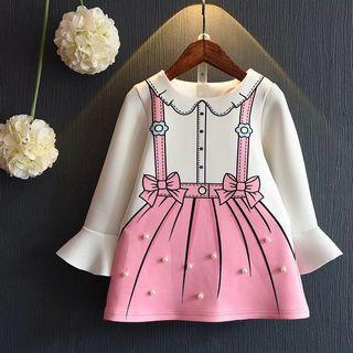 日韓童裝 女童珍珠造型洋裝