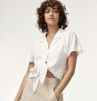 Wilfred Free Tie-front Blouse
