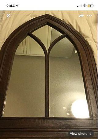 Cathedral antique mirror