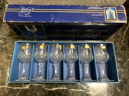 法國水晶杯 6入 收藏多年 請細看照片 含店到店運費
