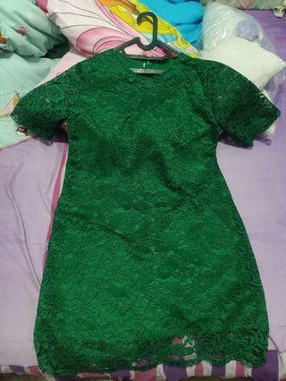 Lace Green Dress XXL