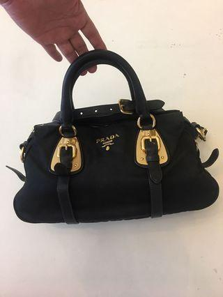 Prada tessuto black nylon tote sling bag come with dustbag & authenticity card