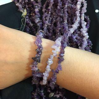 手作飾品DIY材料批發 天然石紫水晶紫晶東菱石土耳其石綠松石碎珠珠珠