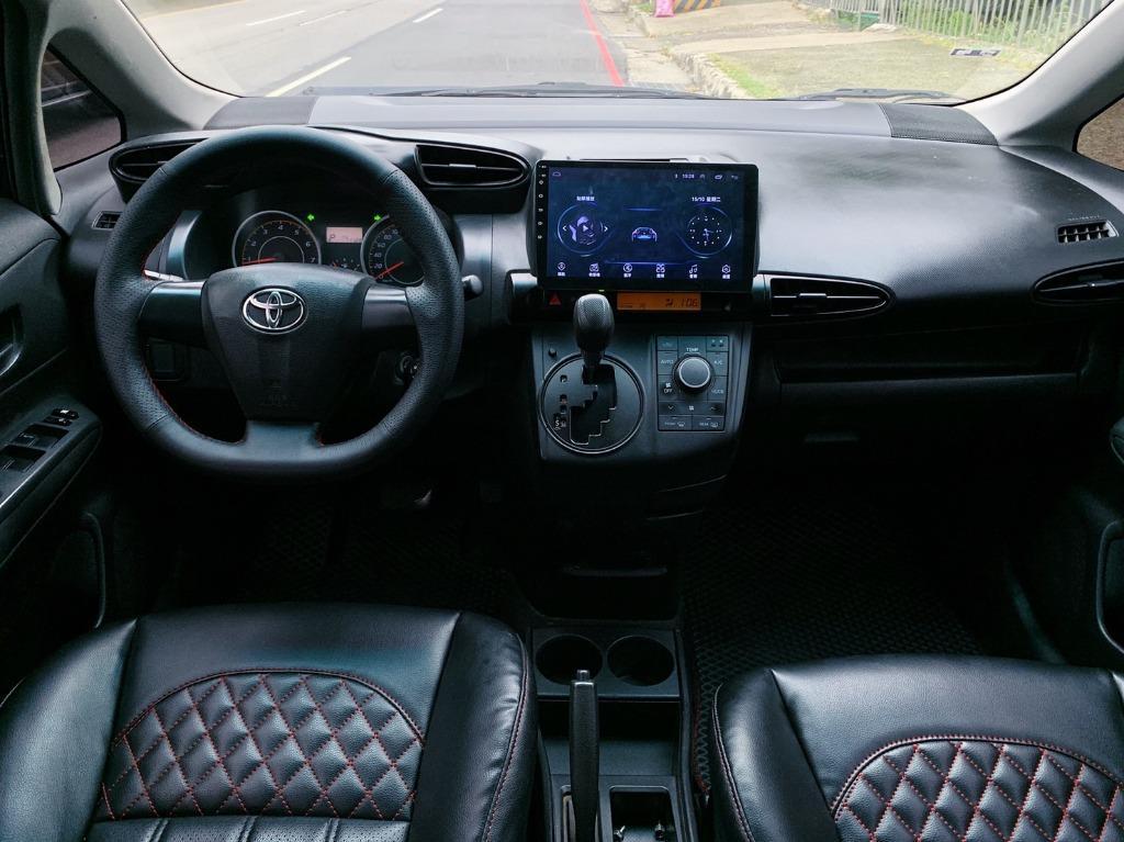 12年 最新款Toyota Wish 2.0E高階運動紅縫線格陵紋皮椅版 原廠黑色