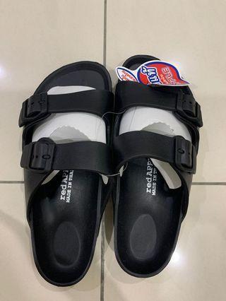 NEW black red apple sandals