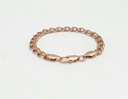 Rose Gold Filled Snail Link Bracelet Chain, 18cm B260