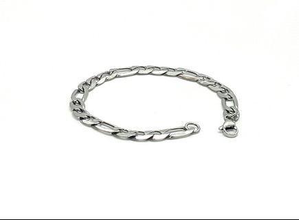 """Bracelet - Stainless Steel Figaro Chain, 8"""" B337"""