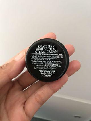 (FREE POSTAGE) Benton Snail Bee Hight Content Steam Cream (12g)