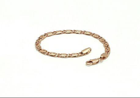 Rose Gold Filled Bracelet Chain, 18cm B259