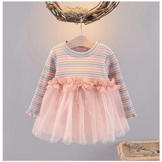 MILLE FEURS baju dress anak lengan panjang rok tutu import dress pesta bayi dress katun bayi dress tutu bayi import dress anak import