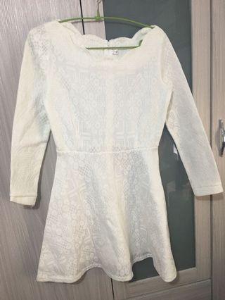 白色洋裝小禮服