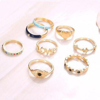 Colorful Love Set Rings